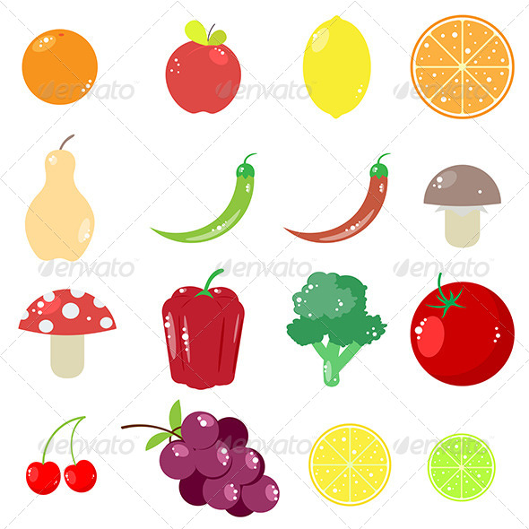 GraphicRiver Fruits and Vegetables 8760188