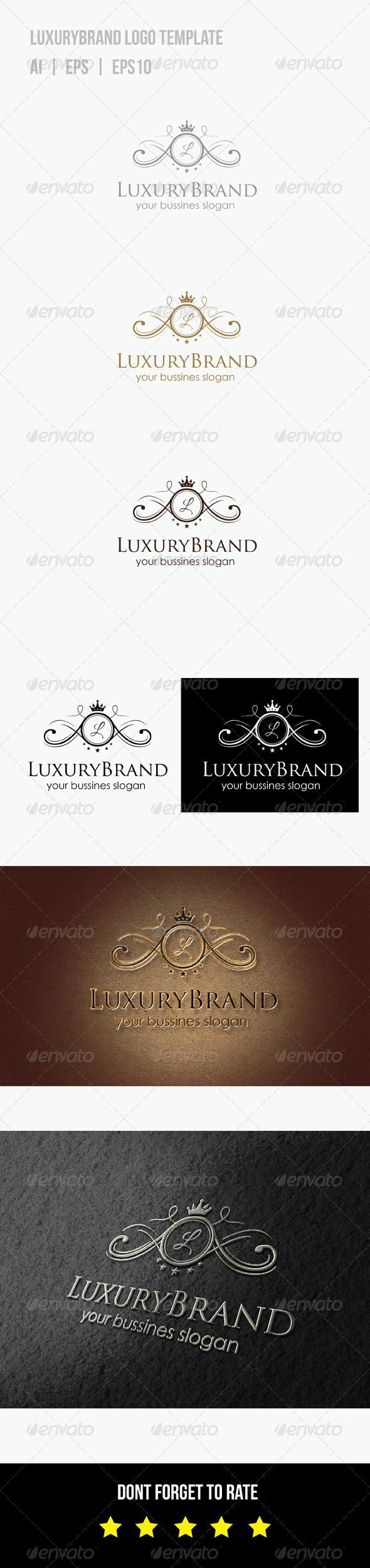 GraphicRiver Luxury Brand Logo 8760215