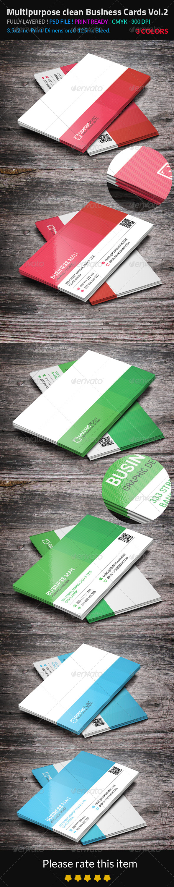GraphicRiver Multipurpose Clean Business Cards Vol.2 8760239