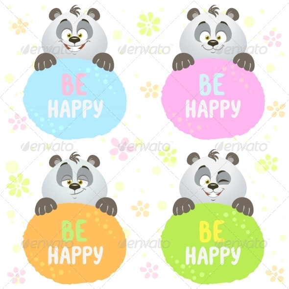 GraphicRiver Panda Set 8760243