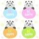 Panda Set - GraphicRiver Item for Sale