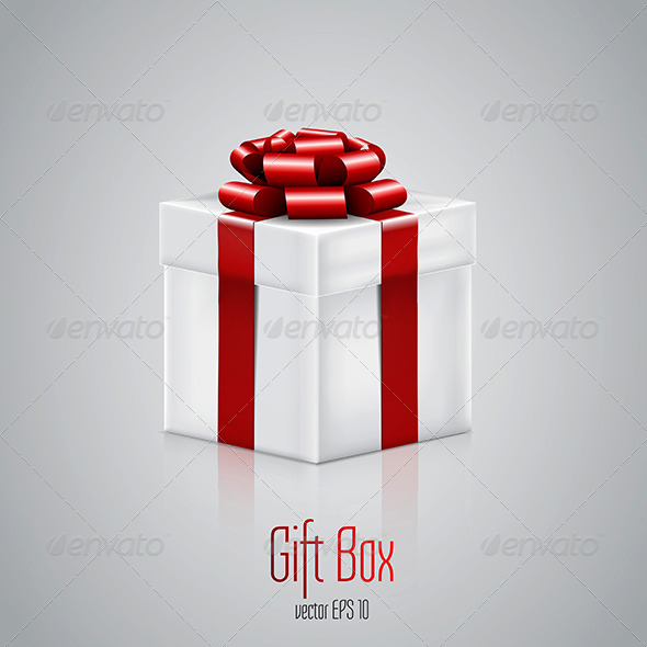 GraphicRiver Gift Box With Red Ribbon 8760324