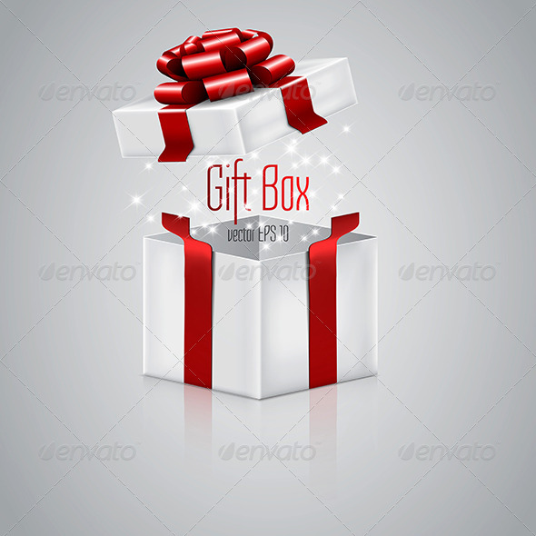GraphicRiver Open Gift Box 8760326