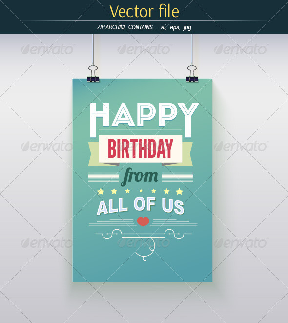 GraphicRiver Poster Happy Birthday 8760625