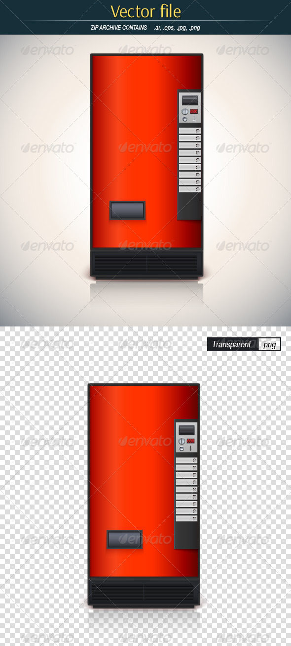 GraphicRiver Red Vending Machine 8760627
