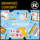 Flat Concept for Meetings, Workspace & Mobile Apps - GraphicRiver Item for Sale