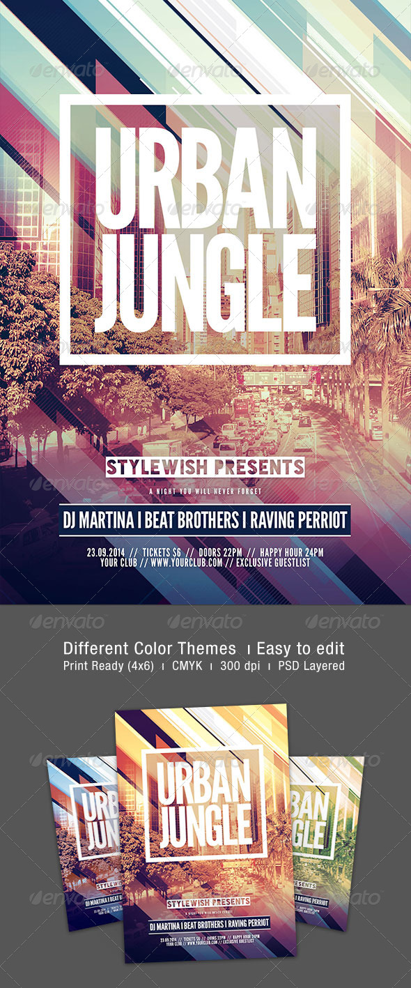 GraphicRiver Urban Jungle Flyer 8761004