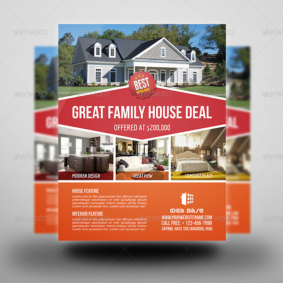 real estate flyer template vol by owpictures graphicriver real estate flyer template vol 11