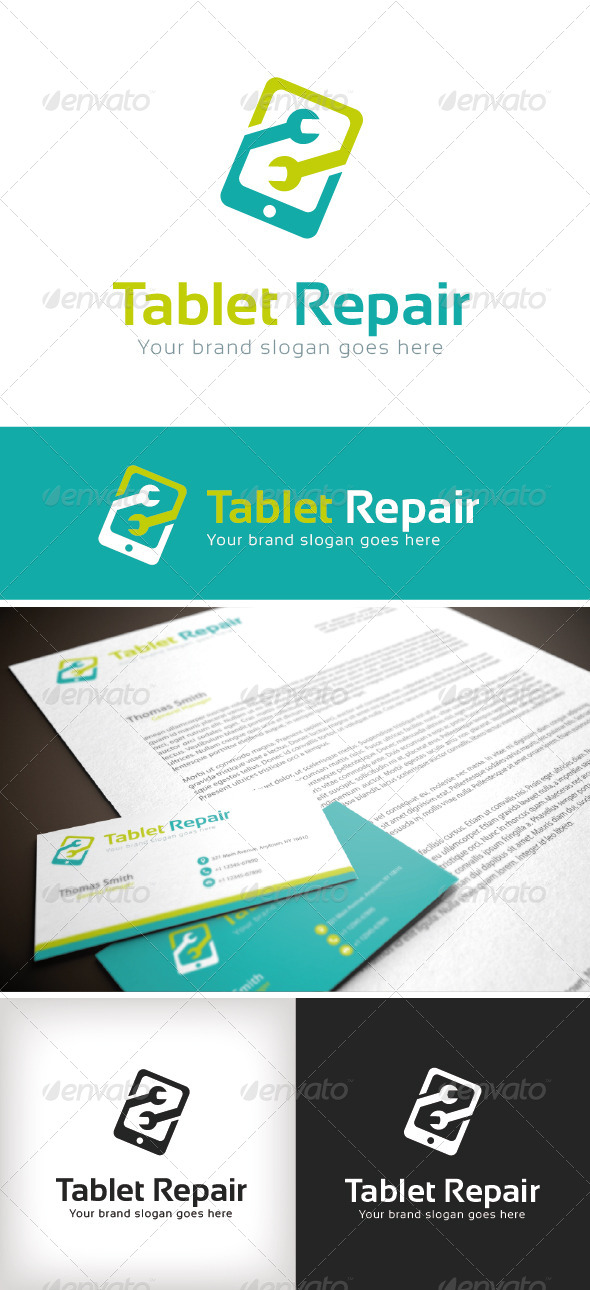 GraphicRiver Tablet Repair Logo Template 8761355