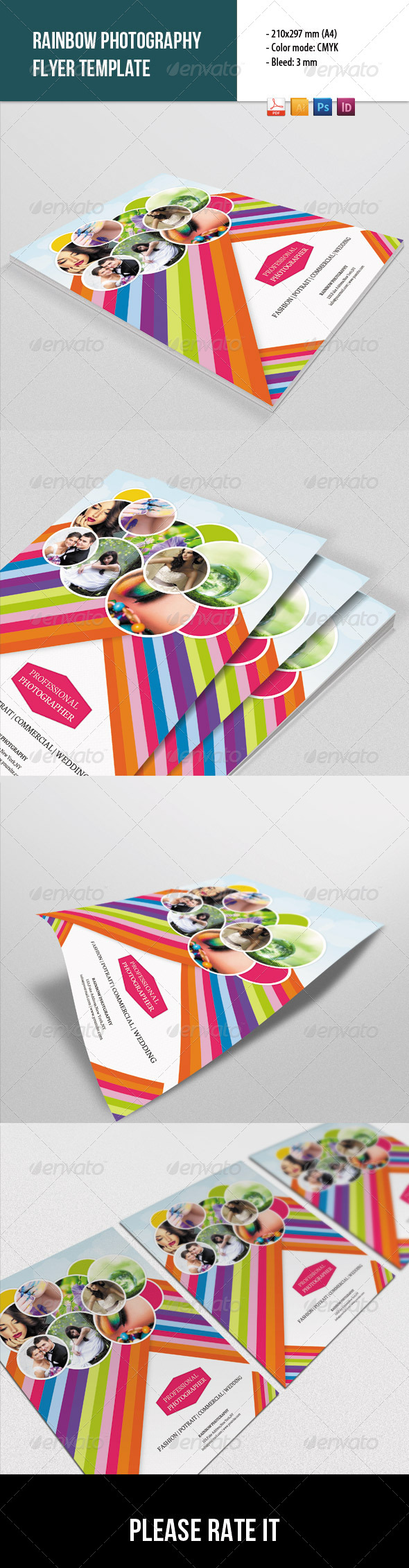 GraphicRiver Rainbow Style Photography Flyer 8761363