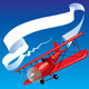Airplane with a Banner - GraphicRiver Item for Sale