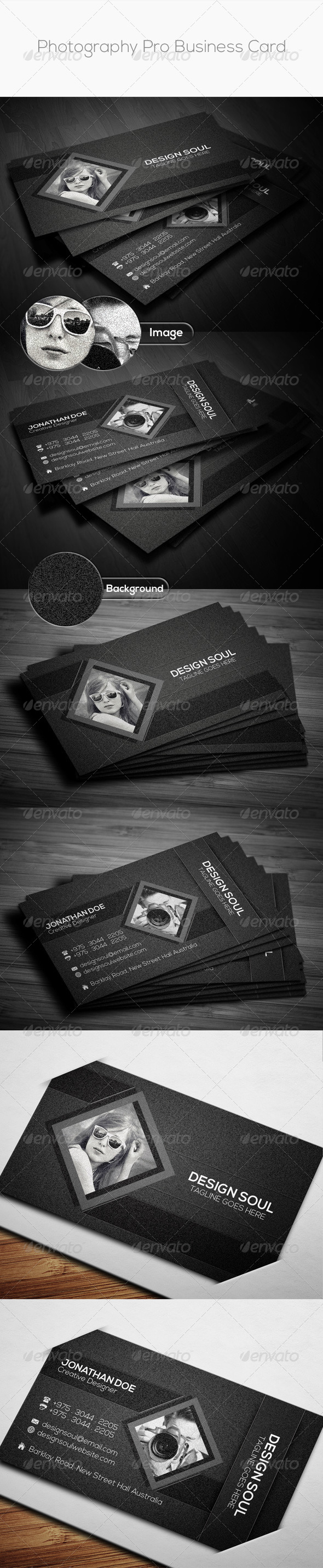 GraphicRiver Photography Pro Business Card 8761817