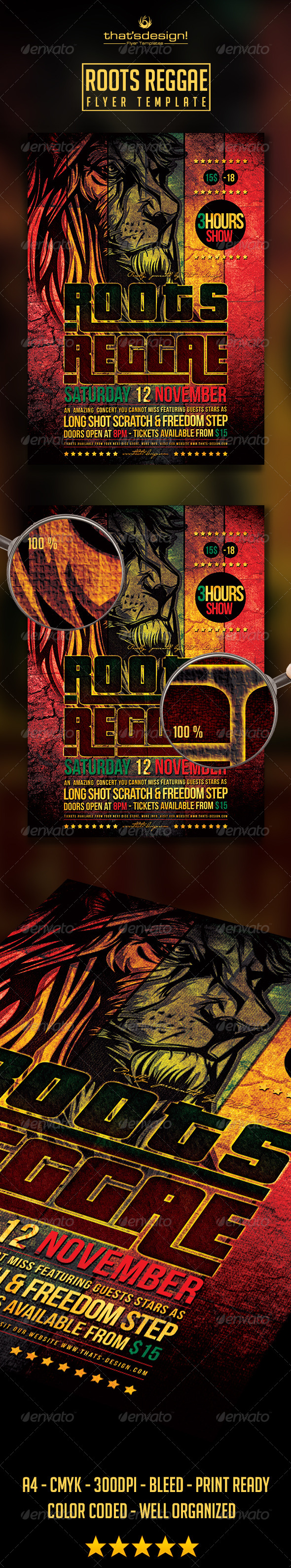 GraphicRiver Roots Reggae Flyer Template 8761940