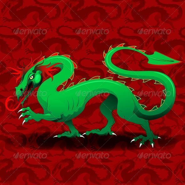 GraphicRiver Green Dragon 8762261
