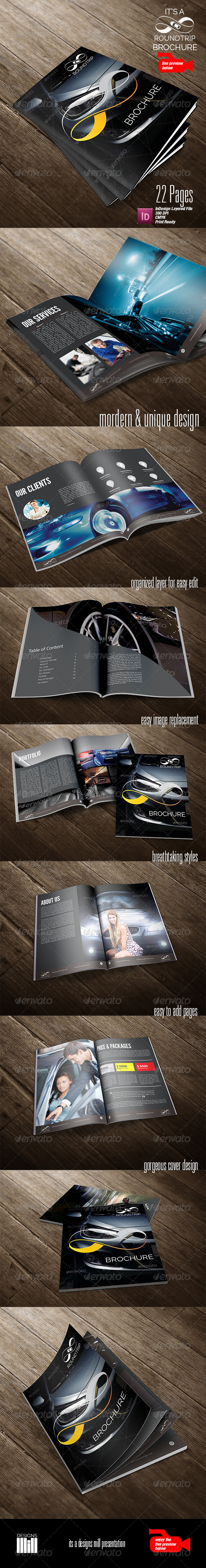 GraphicRiver Round Trip Brochure 8762276