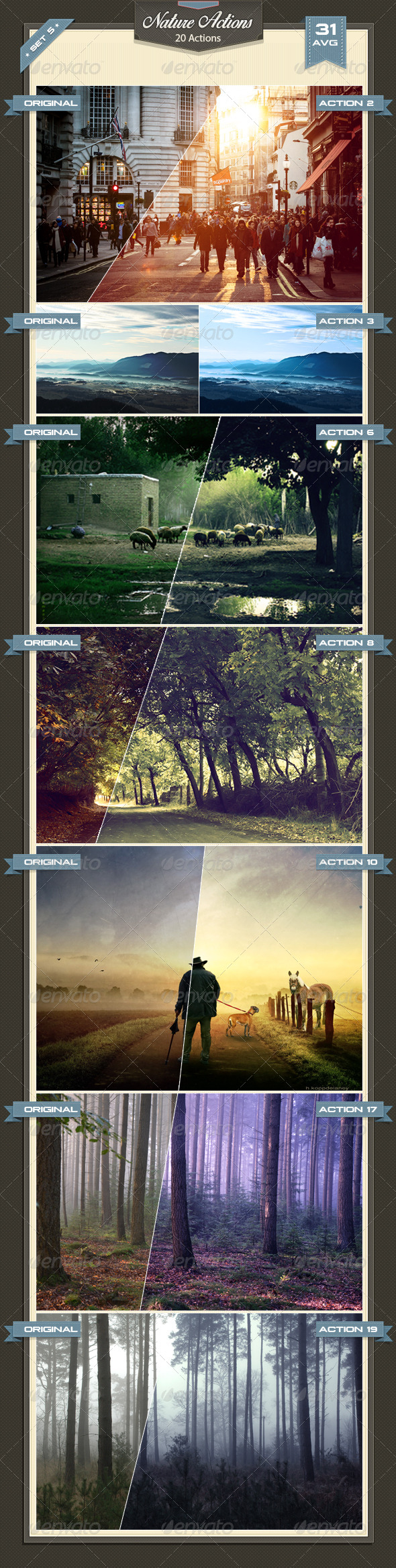 GraphicRiver Nature Photoshop Actions Set 5 8762787