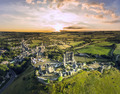 Corfe Castle sunrise - PhotoDune Item for Sale