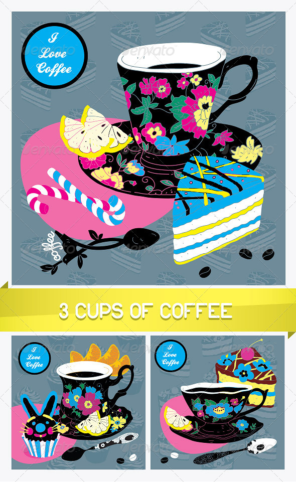 GraphicRiver Elegant Cup of Coffee Card 8762897