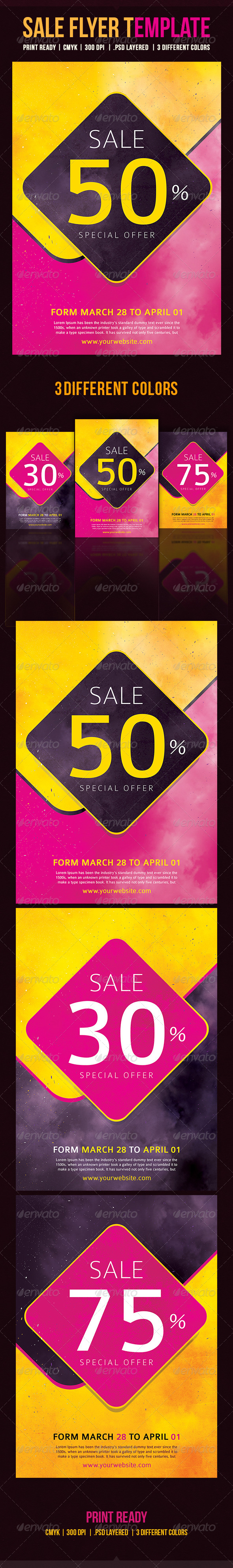 GraphicRiver Sale Flyer Template 8763143