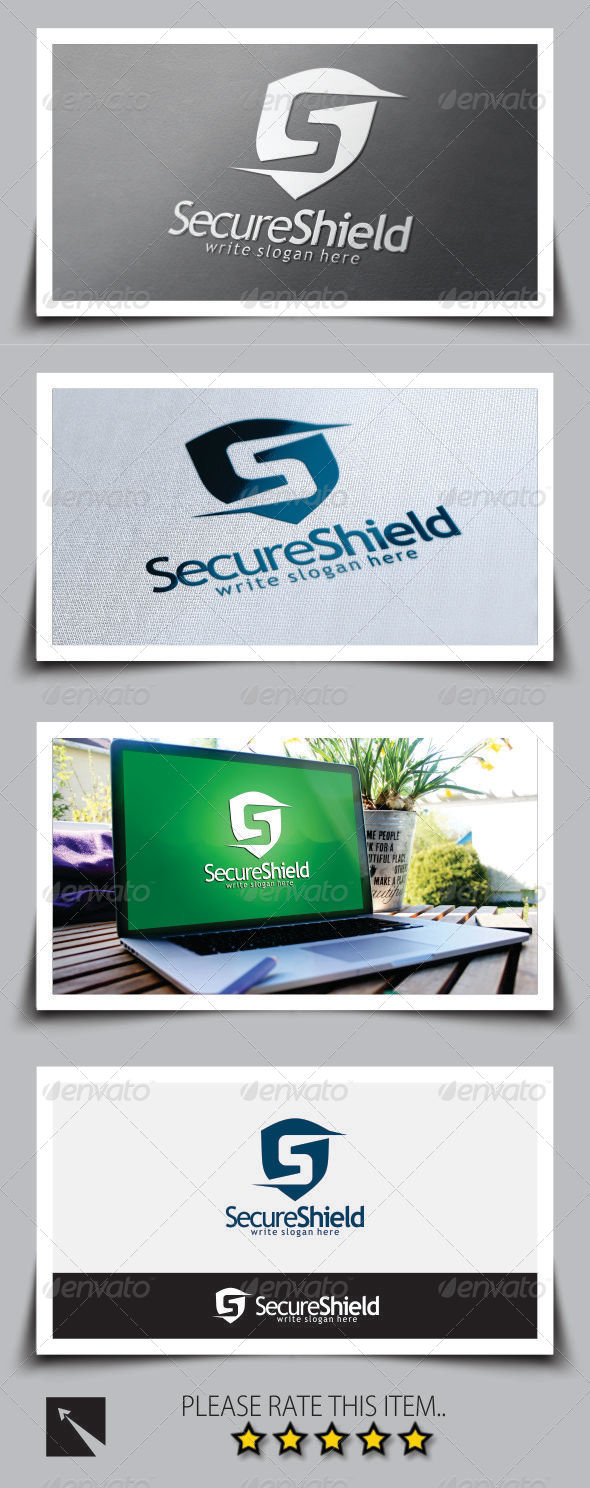 GraphicRiver Secure Shield Letter S Logo Template 8763185