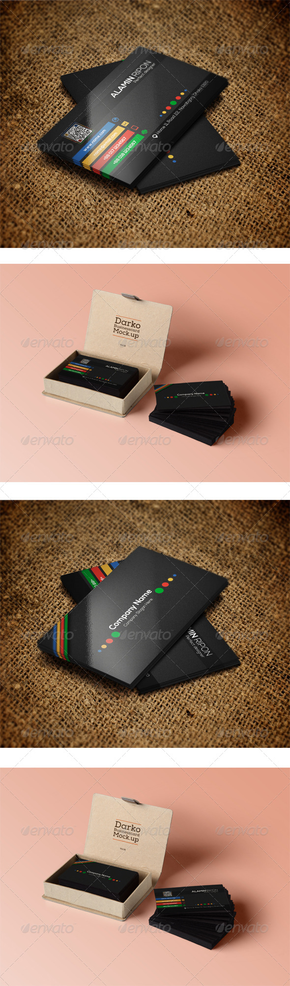 GraphicRiver Colorful Business Card 8713575