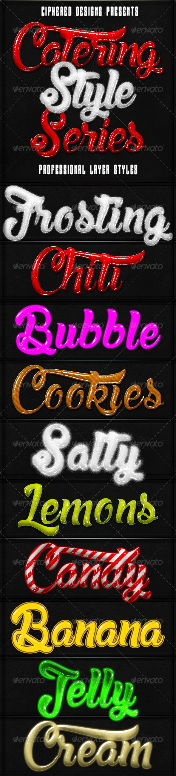 GraphicRiver Catering Style Series Text Effects 8764911