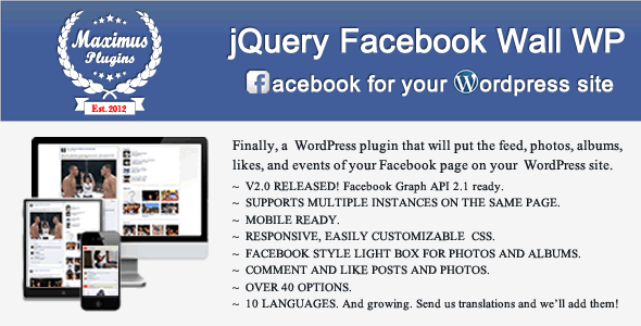jQuery Facebook Wall WordPress - CodeCanyon Item for Sale