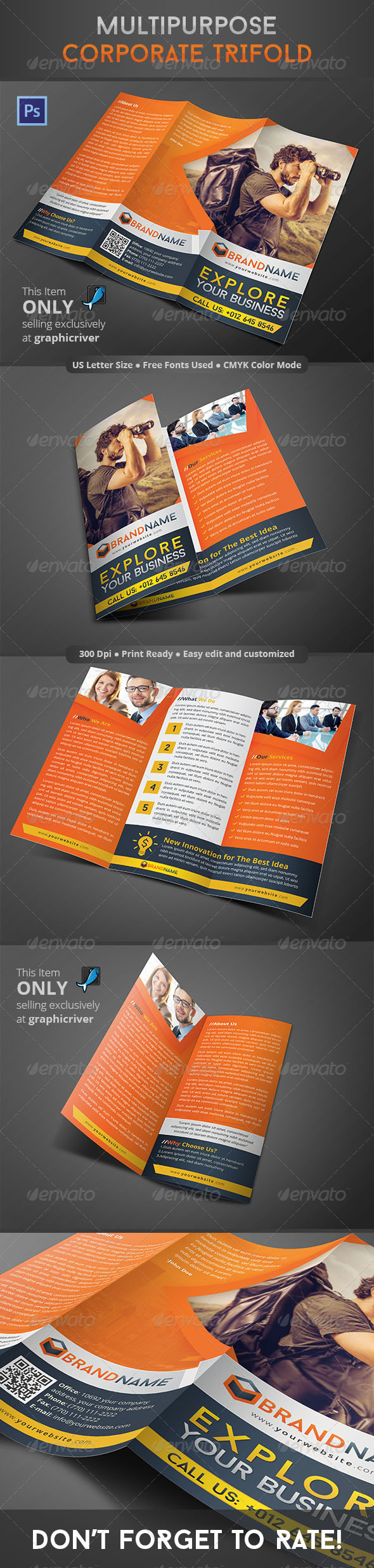GraphicRiver Multipurpose Corporate Trifold 8764955