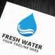 Fresh Water Logo Template - GraphicRiver Item for Sale