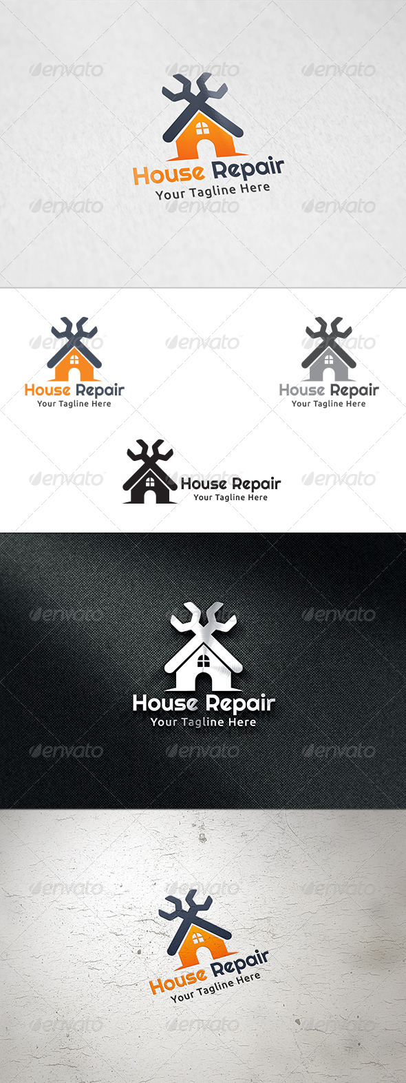 GraphicRiver House Repair Logo Template 8765283
