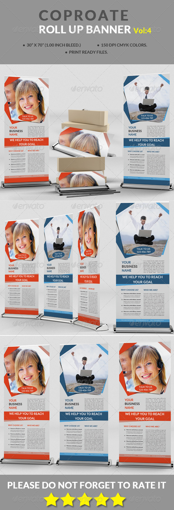 GraphicRiver Corporate Roll-up Banner Vol 4 8765355