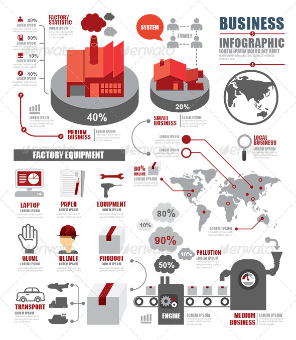 GraphicRiver Infographic Shipping World Industry Factory 8765357