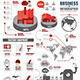 Infographic Shipping World Industry Factory - GraphicRiver Item for Sale