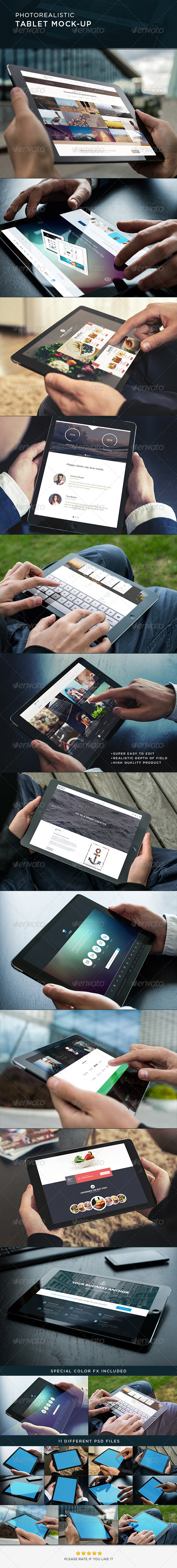 GraphicRiver Photorealistic Tablet Mock-Up 8765380