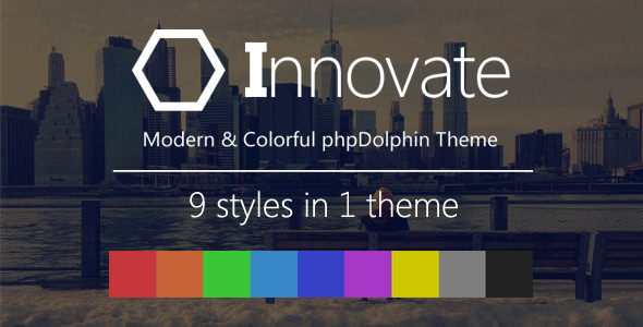 CodeCanyon Innovate Modern and Colorful phpDolphin Theme 8765468