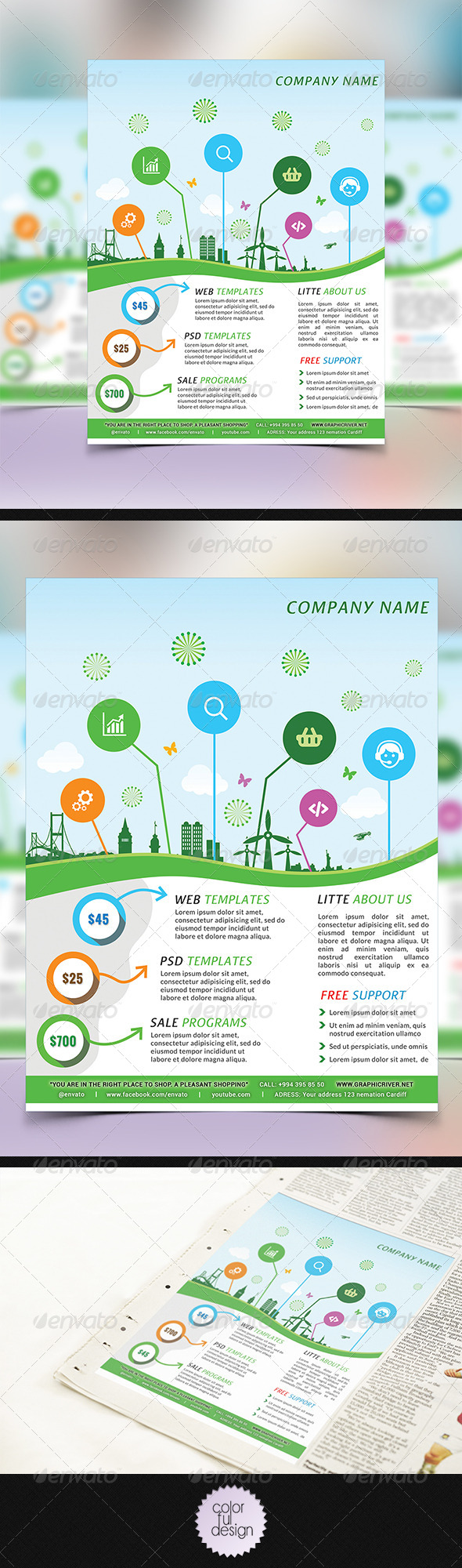 GraphicRiver Corporate flyer Template 8765493
