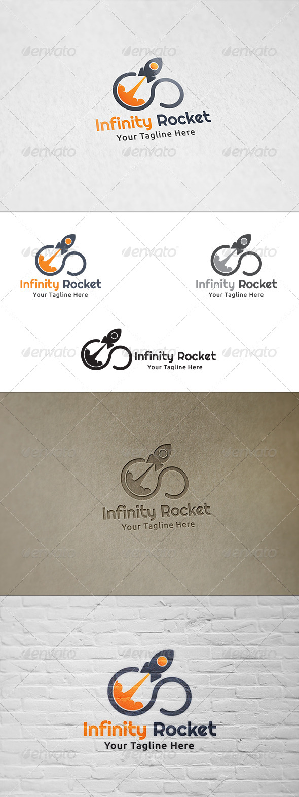 GraphicRiver Infinity Rocket Logo Template 8765695