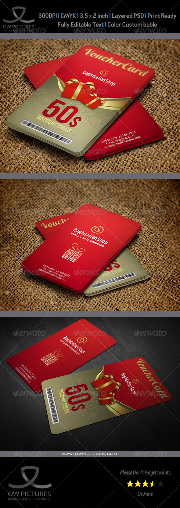GraphicRiver Gift Voucher Card Template Vol.12 8766000