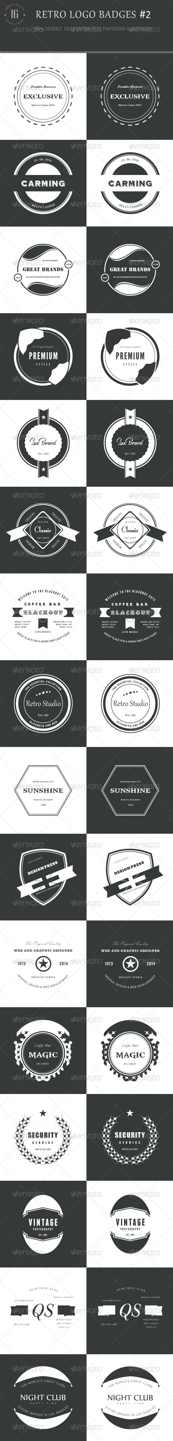 GraphicRiver 16 Retro Logo Badges #2 8766058