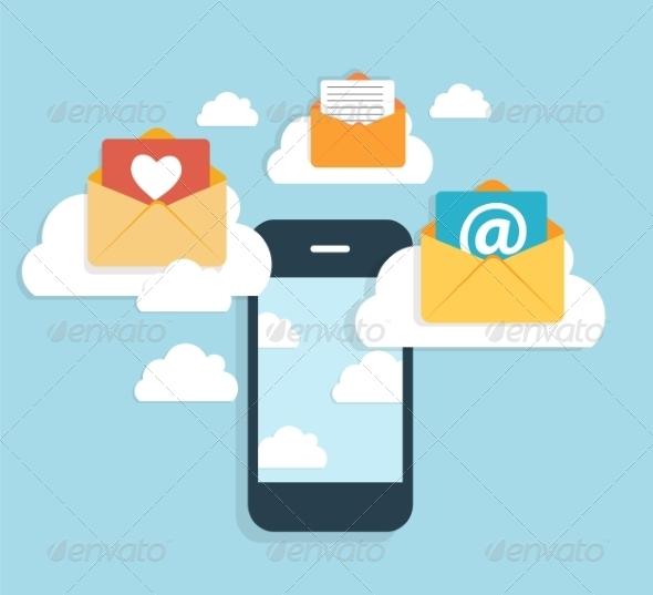 GraphicRiver Flat Design Concept Email Write Icon 8766080