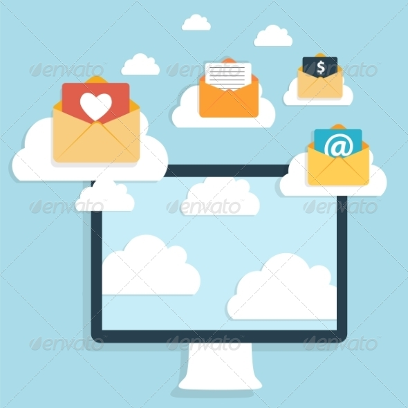 GraphicRiver Flat Design Concept Email Write Icon 8766089