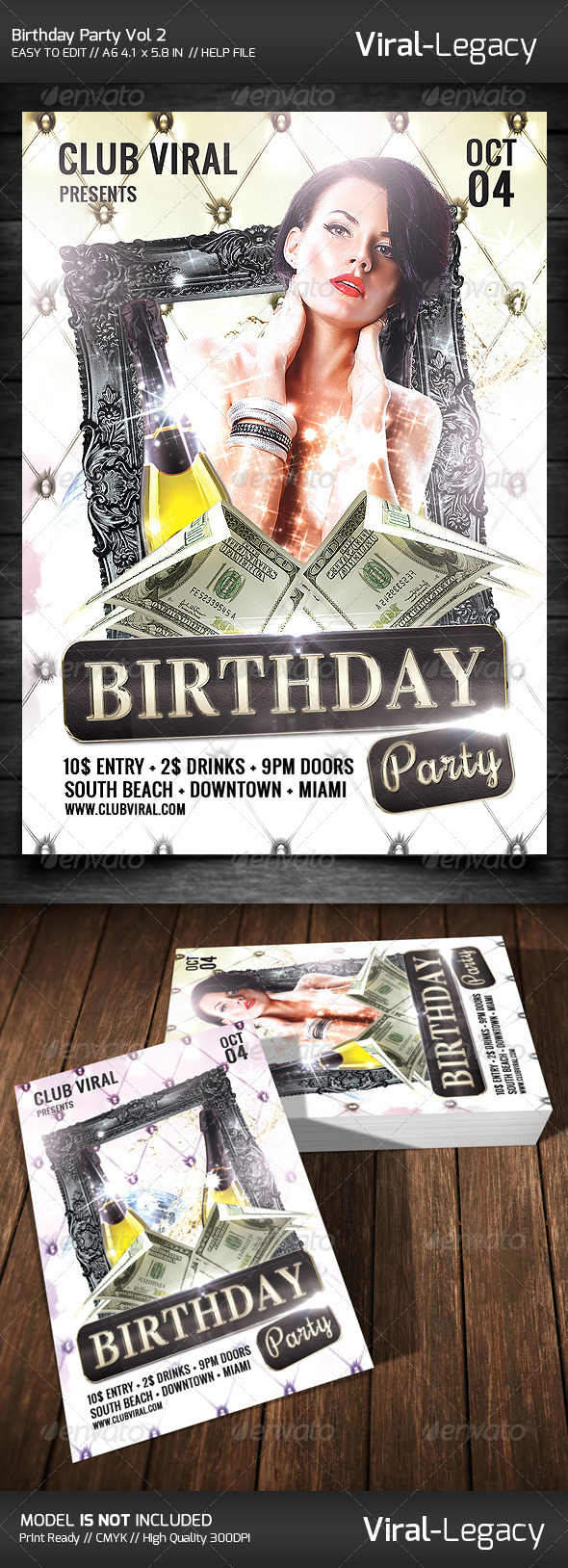 GraphicRiver Birthday Party Flyer 8766158