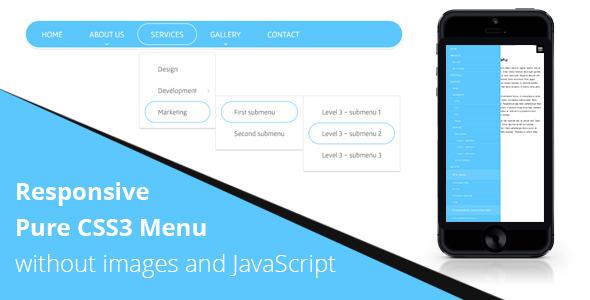 CodeCanyon Responsive CSS3 Menu without JS 8766269