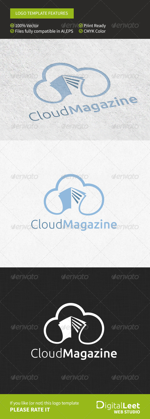 GraphicRiver Cloud Magazine Logo Template 8766295