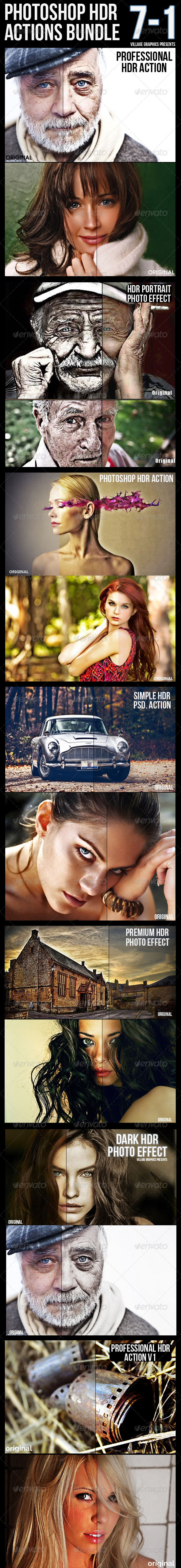 GraphicRiver 7-1 HDR Actions Bundle 8766301