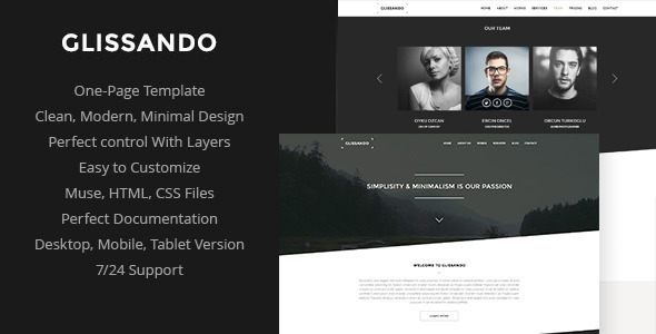 Glissando - Creative Muse Template - Creative Muse Templates