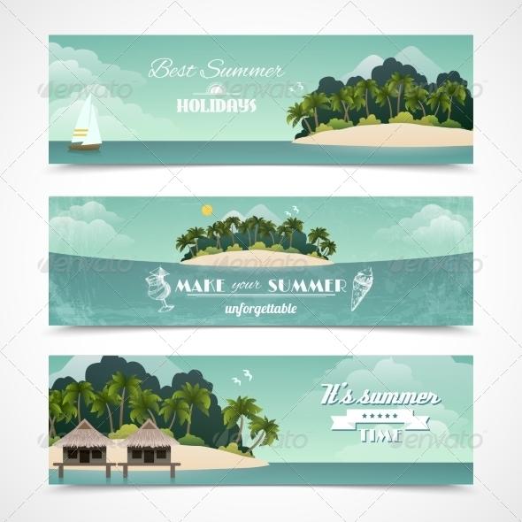 GraphicRiver Island Horizontal Banners 8766541