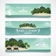 Island Horizontal Banners - GraphicRiver Item for Sale
