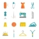 Sewing Equipment Icons Set Flat - GraphicRiver Item for Sale