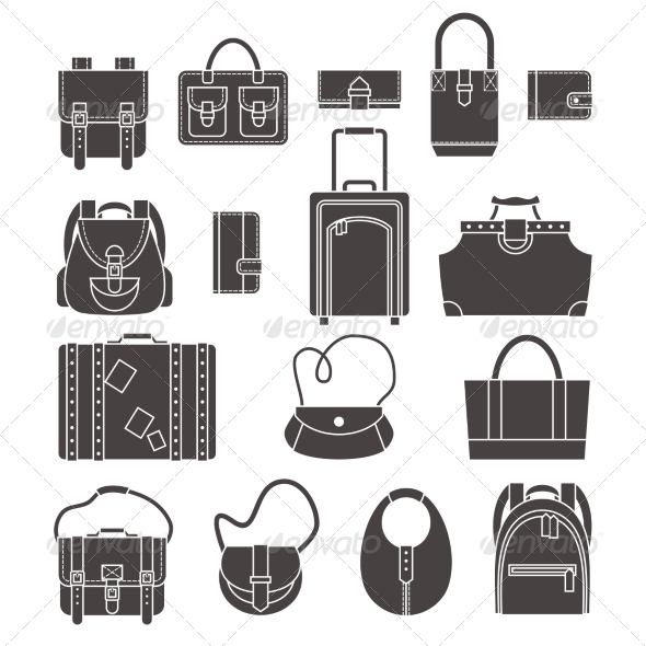 GraphicRiver Bags Icons Set 8766572
